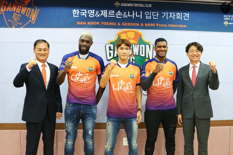 한국영-제르손-나니, 강원FC 선수로 첫 인사