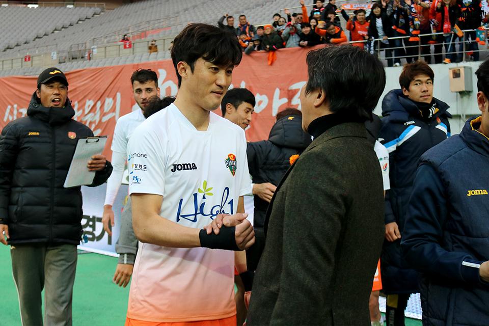 '믿을맨' 거듭난 김오규, 강원FC서 150경기 출전 '금자탑'