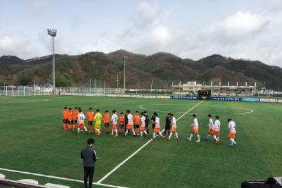 강원FC U-15, 도 소년체육대회 준결승 진출