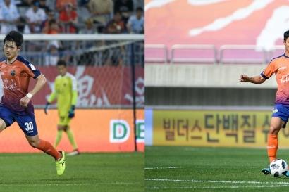 강원FC '포천 듀오' 한용수-박정수, 강해지는 중앙센터 라인