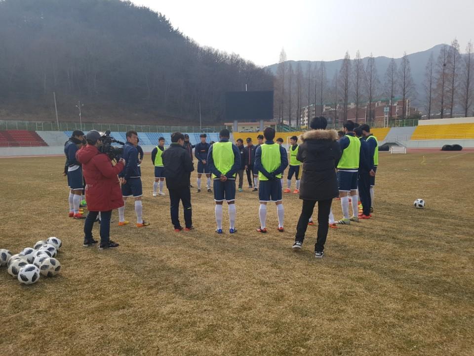 강원FC, '무서운 영건들' 대전시티즌과 연습경기서 무승부
